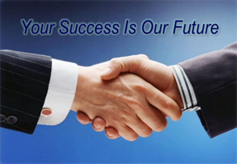 your success handshake